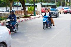Ταϊλάνδη motrobike που οδηγά Στοκ φωτογραφίες με δικαίωμα ελεύθερης χρήσης
