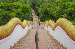 Ταϊλανδικά βήματα ναών Στοκ Φωτογραφίες