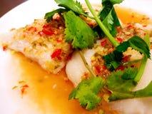 Ταϊλανδικά βρασμένα στον ατμό ψάρια Στοκ εικόνα με δικαίωμα ελεύθερης χρήσης