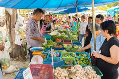 Ταϊλανδικά εξωτικά λαχανικά στην αγορά Στοκ Εικόνες