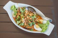 Ταϊλανδικά εύγευστα ταϊλανδικά τρόφιμα σαλάτας φασολιών φτερών Στοκ Εικόνες
