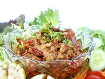 Ταϊλανδικά παραδοσιακά τρόφιμα Nam Prik Aong Στοκ εικόνα με δικαίωμα ελεύθερης χρήσης