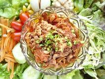 Ταϊλανδικά παραδοσιακά τρόφιμα Nam Prik Aong Στοκ Εικόνα