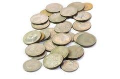 Ταϊλανδικά παλαιά νομίσματα που είναι συλλογή νομισμάτων Στοκ Φωτογραφία