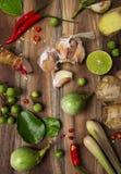 Ταϊλανδικά συστατικά τροφίμων στοκ φωτογραφία