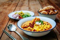 Ταϊλανδικά τρόφιμα βόρειος Ταϊλανδός Στοκ φωτογραφία με δικαίωμα ελεύθερης χρήσης
