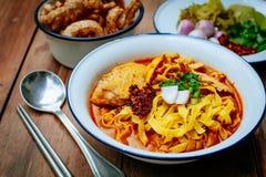 Ταϊλανδικά τρόφιμα βόρειος Ταϊλανδός Στοκ Εικόνες