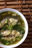 Ταϊλανδικά τρόφιμα σούπας ψαριών Στοκ Φωτογραφίες