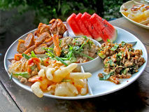 Ταϊλανδικά τρόφιμα τα πικάντικα τρόφιμα της Ταϊλάνδης Στοκ Φωτογραφία