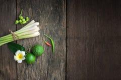 Ταϊλανδικά τρόφιμα, lemongrass, lemongrass Στοκ Φωτογραφίες