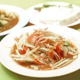 Ταϊλανδικά τρόφιμα, papaya σαλάτα ή SOM -SOM-tam Στοκ Φωτογραφία