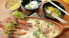 Ταϊλανδικά τρόφιμα, Tom Yum Goong Στοκ φωτογραφίες με δικαίωμα ελεύθερης χρήσης