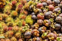 Ταϊλανδικά φρούτα, Ασία Στοκ Εικόνες