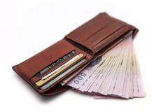 Ταϊλανδικά χρήματα σε ένα πορτοφόλι Στοκ εικόνα με δικαίωμα ελεύθερης χρήσης