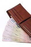 Ταϊλανδικά χρήματα σε ένα πορτοφόλι Στοκ Φωτογραφία