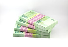 Ταϊλανδικά χρήματα στο άσπρο υπόβαθρο Στοκ εικόνες με δικαίωμα ελεύθερης χρήσης
