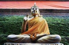 Ταϊλανδικά buddhas σε πράσινο Στοκ Εικόνες