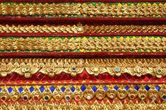 Ταϊλανδικές λεπτομέρειες τέχνης από τον ταϊλανδικό ναό Στοκ Εικόνες