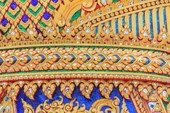 Ταϊλανδικές τέχνη και χάραξη τεχνητές Στοκ Φωτογραφία