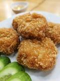 Ταϊλανδικές τηγανισμένες γαρίδες Στοκ εικόνες με δικαίωμα ελεύθερης χρήσης
