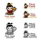 Ταϊλανδική έννοια λογότυπων τροφίμων Στοκ φωτογραφίες με δικαίωμα ελεύθερης χρήσης