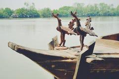 ταϊλανδική βάρκα σειρών Στοκ Φωτογραφίες