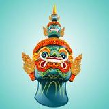 Ταϊλανδική γιγαντιαία μάσκα Στοκ φωτογραφία με δικαίωμα ελεύθερης χρήσης
