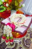 Ταϊλανδική γιρλάντα, ταϊλανδική γιρλάντα λουλουδιών ύφους φρέσκια. Στοκ Εικόνες