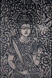 Ταϊλανδική ζωγραφική στο βουδιστικό ναό Στοκ φωτογραφία με δικαίωμα ελεύθερης χρήσης