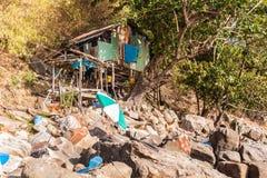 Ταϊλανδική καλύβα παραλιών Στοκ Φωτογραφίες