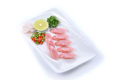 Ταϊλανδική κουζίνα και τρόφιμα, ξινό χοιρινό κρέας Στοκ φωτογραφίες με δικαίωμα ελεύθερης χρήσης