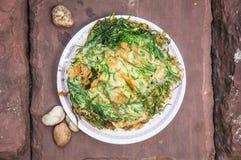 Ταϊλανδική κουζίνα  ομελέτα cha-OM Στοκ Φωτογραφίες