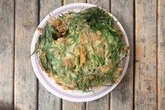 Ταϊλανδική κουζίνα  ομελέτα cha-OM Στοκ φωτογραφία με δικαίωμα ελεύθερης χρήσης