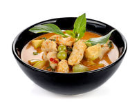 Ταϊλανδική κουζίνα στο άσπρο υπόβαθρο Στοκ Φωτογραφία