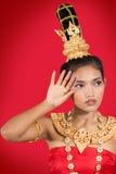 Ταϊλανδική κυρία στοκ φωτογραφίες με δικαίωμα ελεύθερης χρήσης