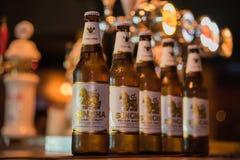 Ταϊλανδική μπύρα Singha στο μπουκάλι Στοκ φωτογραφία με δικαίωμα ελεύθερης χρήσης