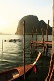 Ταϊλανδική ξύλινη βάρκα Στοκ Εικόνες