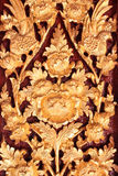Ταϊλανδική ξύλινη γλυπτική Στοκ εικόνα με δικαίωμα ελεύθερης χρήσης