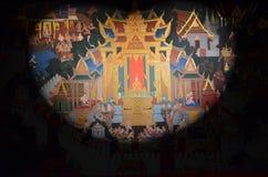 Ταϊλανδική παραδοσιακή ζωγραφική τοίχων στοκ εικόνες με δικαίωμα ελεύθερης χρήσης