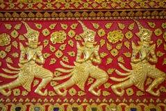 Ταϊλανδική παραδοσιακή διακόσμηση ναών Στοκ εικόνα με δικαίωμα ελεύθερης χρήσης