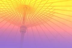 Ταϊλανδική παραδοσιακή ομπρέλα ενδυμάτων Στοκ Εικόνες