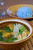 Ταϊλανδική πικάντικη μικτή φυτική σούπα, ταϊλανδικά τρόφιμα. Στοκ εικόνα με δικαίωμα ελεύθερης χρήσης
