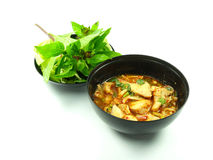 Ταϊλανδική πικάντικη σαλάτα βραγχίων κιμά στοκ εικόνες με δικαίωμα ελεύθερης χρήσης