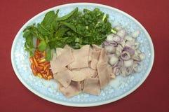 Ταϊλανδική πικάντικη σαλάτα Στοκ Φωτογραφίες