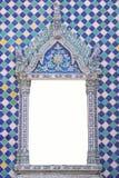 Ταϊλανδική πόρτα ναών βουδισμού Στοκ εικόνες με δικαίωμα ελεύθερης χρήσης