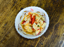Ταϊλανδική σαλάτα λουκάνικων χοιρινού κρέατος Στοκ φωτογραφία με δικαίωμα ελεύθερης χρήσης