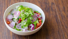 Ταϊλανδική σαλάτα Cucumer Στοκ εικόνα με δικαίωμα ελεύθερης χρήσης