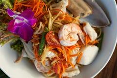 Ταϊλανδική σαλάτα Tum SOM θαλασσινών Στοκ εικόνες με δικαίωμα ελεύθερης χρήσης