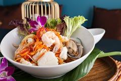Ταϊλανδική σαλάτα Tum SOM θαλασσινών Στοκ φωτογραφία με δικαίωμα ελεύθερης χρήσης