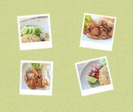 Ταϊλανδική στιγμιαία φωτογραφία τροφίμων Στοκ φωτογραφίες με δικαίωμα ελεύθερης χρήσης